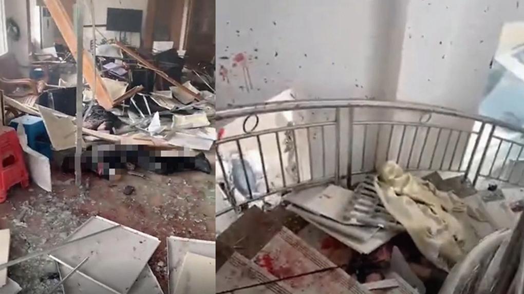 番禺公安通報稱,明經村發生一宗刑事案件,造成人員傷亡。(影片截圖)