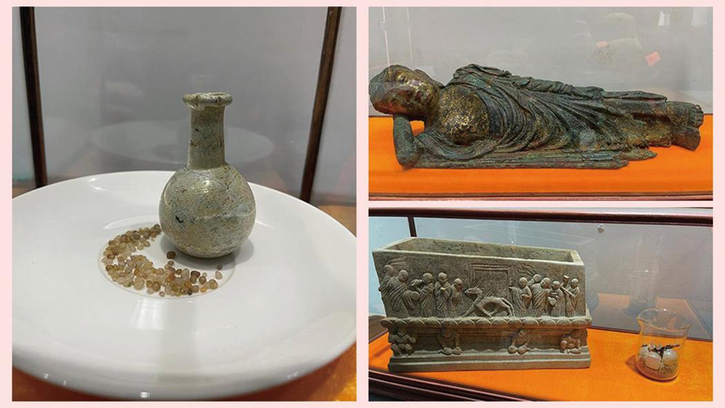陝西一夥盜墓賊5年盜取6座千年古塔,盜走了阿育王塔、金佛骨、舍利子、釋迦牟尼涅槃像等文物。(網絡截圖合成)