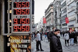 央行行長換人又通脹飆漲 土耳其股市急瀉9.8%