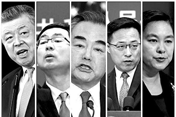 中共「戰狼」外交官在國際上接連出醜,導致北京與多國交惡。(大紀元合成圖)