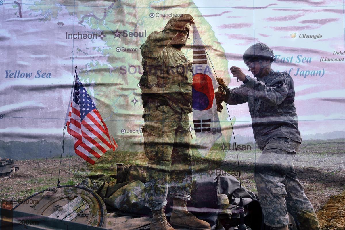 朝鮮和中共前所未有的挑戰,要求美韓確保在需要時,今晚就可以戰鬥。(大紀元製圖)