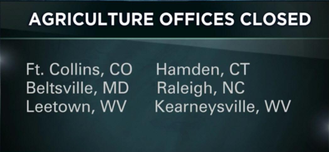 美國農業部(USDA)周二(30日)表示,因受匿名電子郵件威脅,決定暫時關閉分佈在5各州的6個辦公室。(視像擷圖)