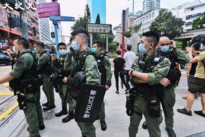 北京令下 港警自動變身「大灣區警察」