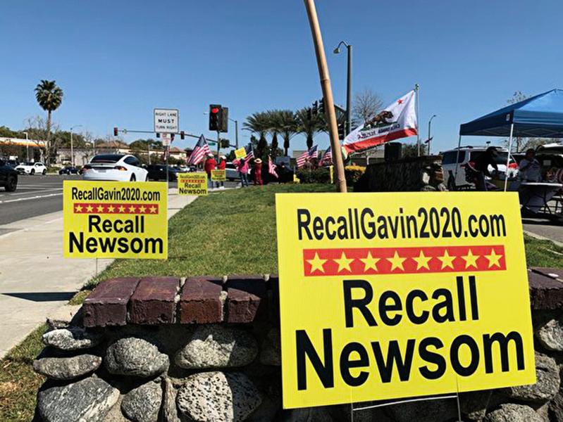 加利福尼亞州州長失民心  紐森很可能在罷免中下台