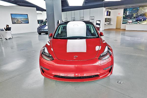 美國電動車大廠特斯拉(Tesla Inc.)展示廳。(Getty Images)