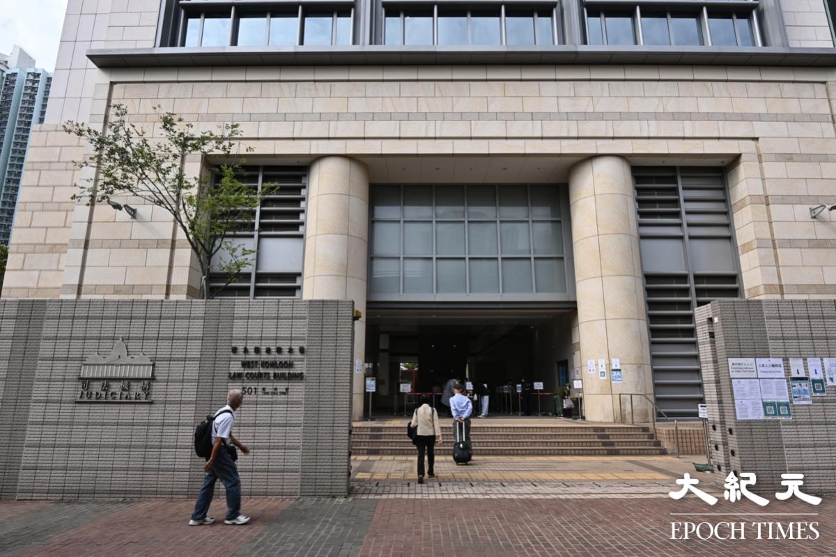 今早(3月25日)吳政亨及林卓廷今25日到西九龍裁判法院應訊,他們早前就民主派初選47人案被控串謀顛覆國家政權罪。(宋碧龍/大紀元)