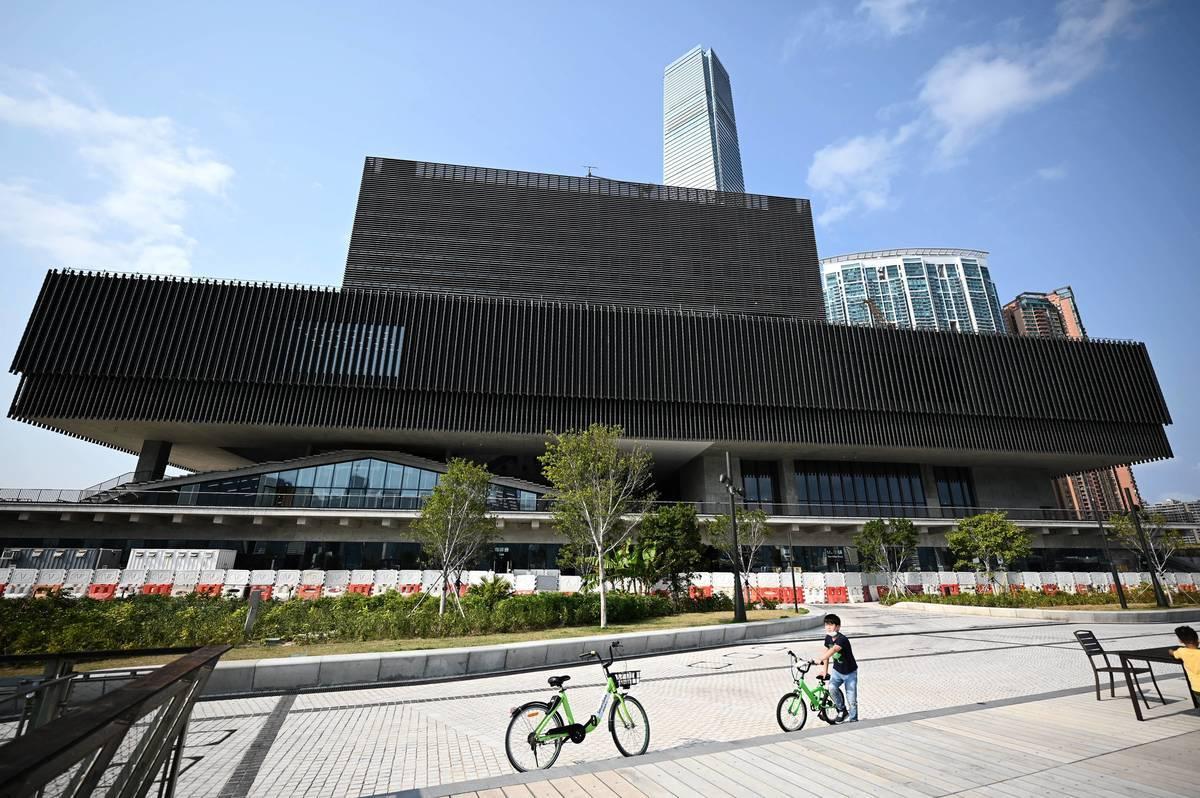 年底開幕的西九M+博物館近日遭建制陣營連番追擊。(PETER PARKS/AFP via Getty Images)