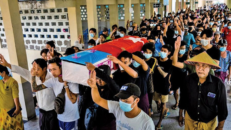 緬甸發起無聲罷工避免流血