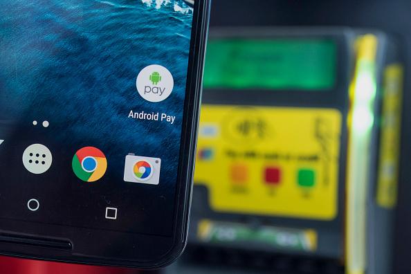 安卓支付App(Android Pay)。(Getty Images)