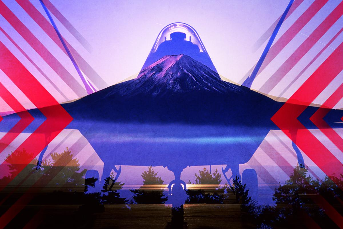 F-22部署日本,讓西太的天空靜下來。(大紀元製圖)