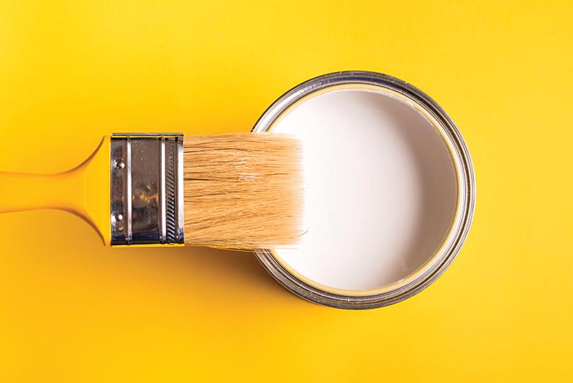 白色油漆種類多,應嘗試後再選擇。