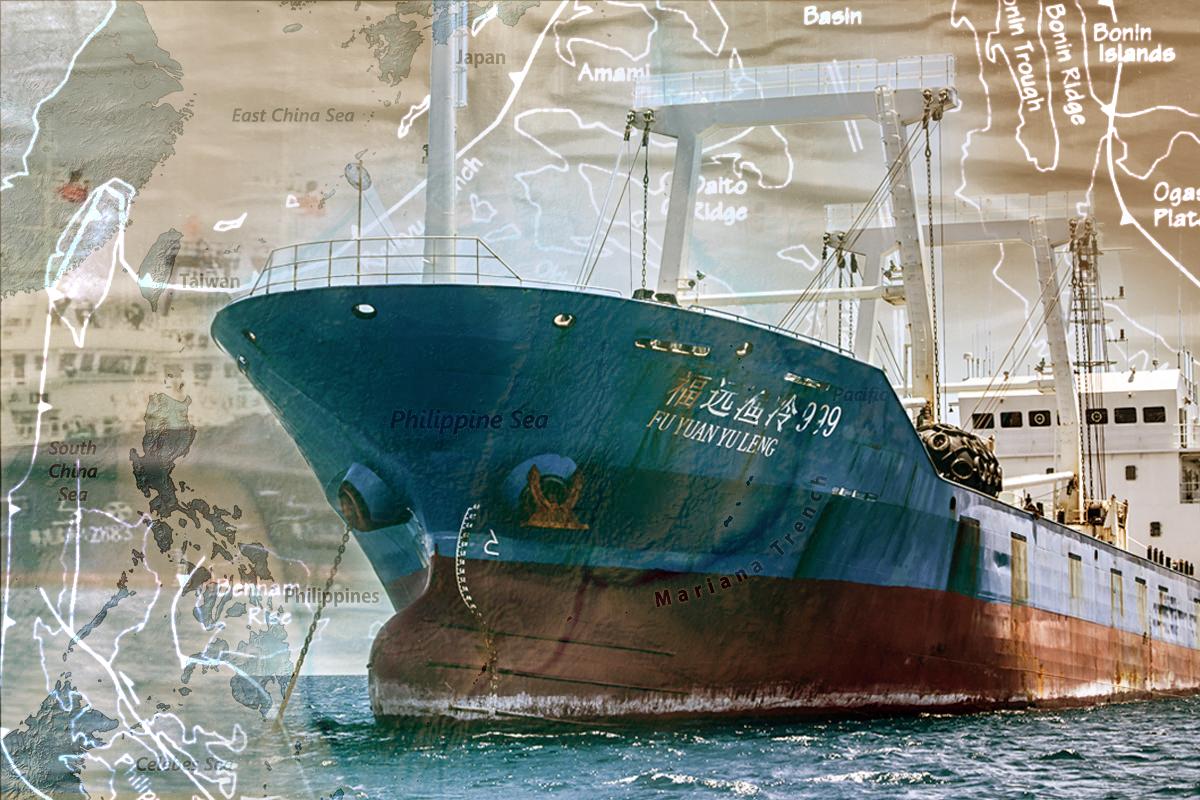 南海又出麻煩,220艘中共漁船滯留菲海。(大紀元製圖)