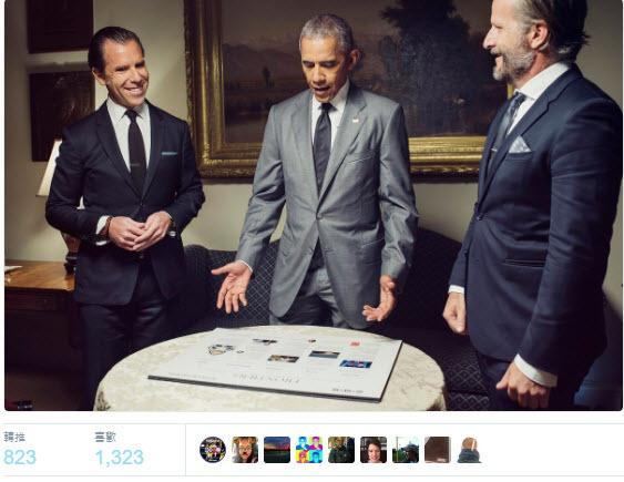 美國現任總統奧巴馬將擔任「連線」雜誌客座編輯,參與11月號的雜誌編輯。(推特擷圖)