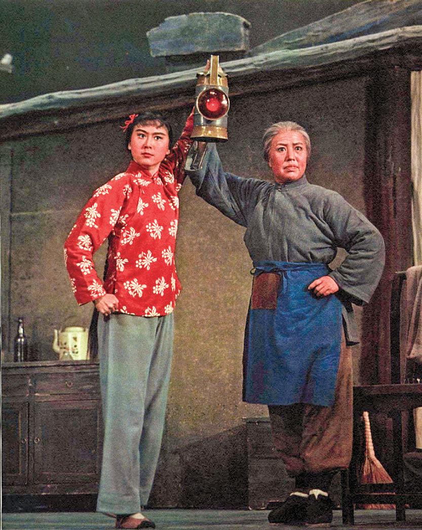 「文革」時期,中共推出的八個樣板戲中的《紅燈記》)劇照。(wikipedia)