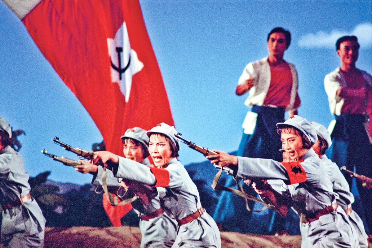「文革」時期,中共推出的八個樣板戲中的《紅色娘子軍》