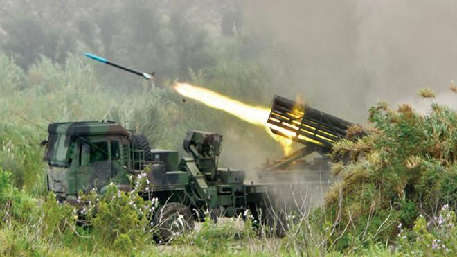 2020年7月16日,台灣漢光軍演反登陸實彈演習。(SAM YEH/AFP via Getty Images)