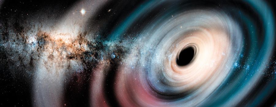 星系中心超級黑洞發生奇特位移