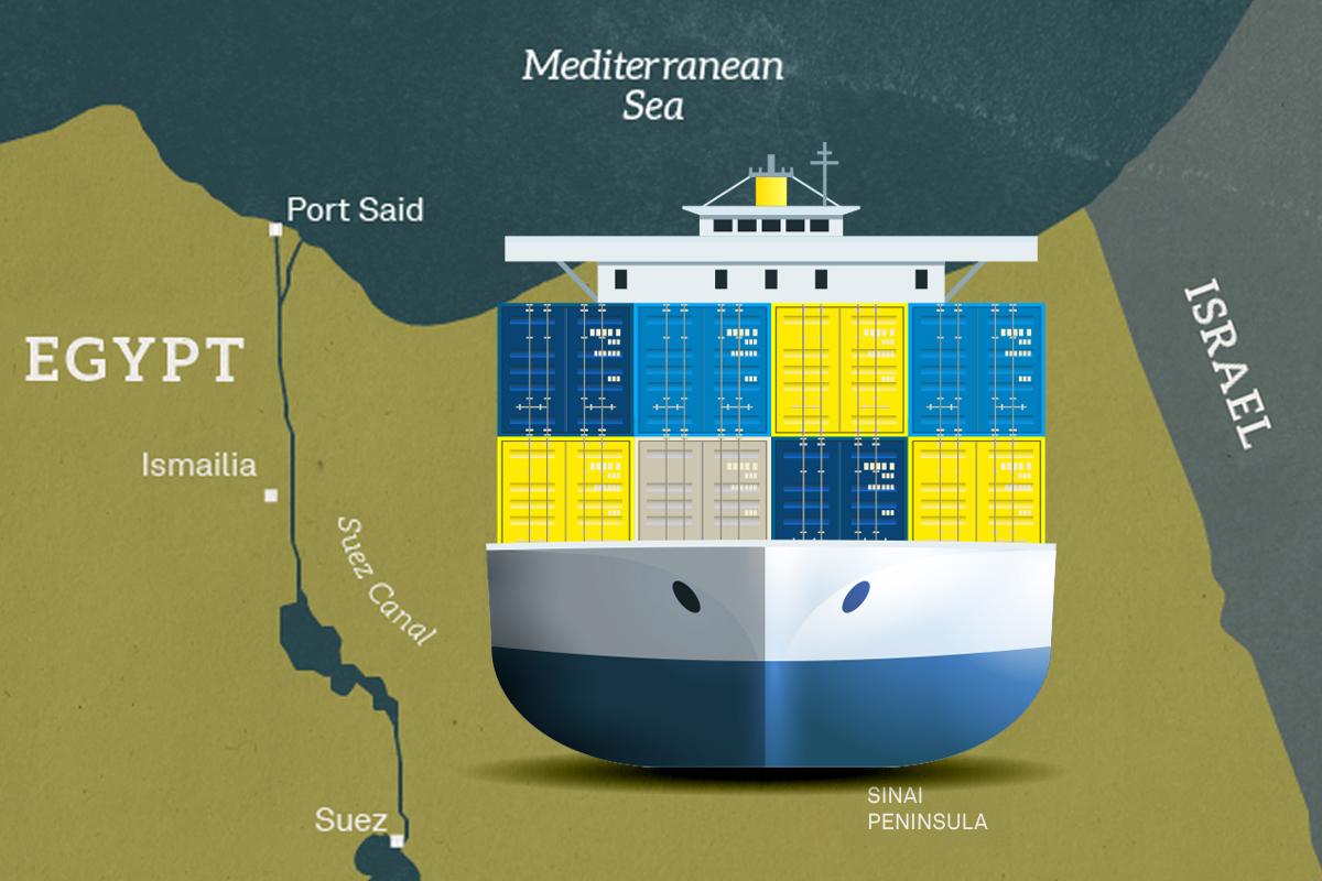 蘇彝士運河歷史上幾次危機,14艘輪船曾被卡8年?埃及爭奪蘇彝士運河,導致全球霸主易位,美蘇陣營對峙?(大紀元製圖)