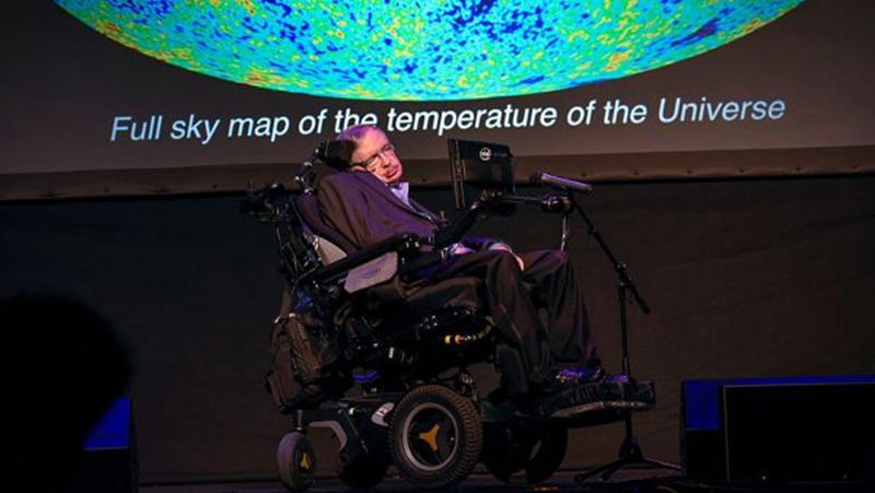 圖為英國理論物理學家、宇宙學家及作家霍金(Stephen William Hawking)。(DESIREE MARTIN/AFP/Getty Images)