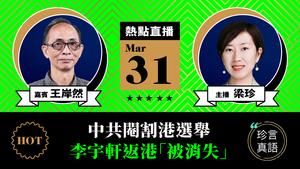 【珍言真語】王岸然:中共閹割港選舉  李宇軒返港「被消失」