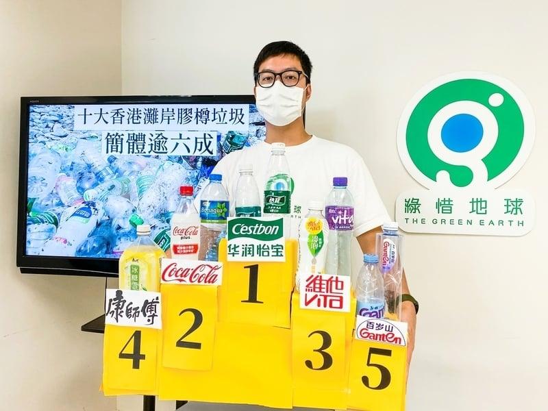 環團淨灘活動回收過萬膠樽 六成為簡體字品牌 料由珠江口一帶流飄到港