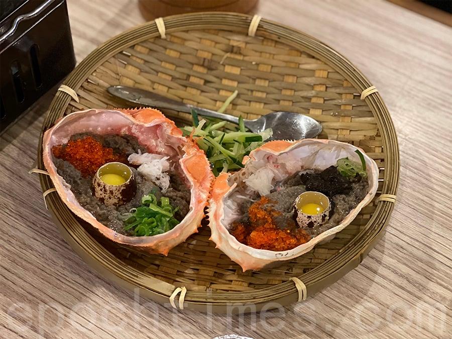 蟹味噌甲羅燒及黑松露蟹肉甲羅燒。(Siu Shan 提供)