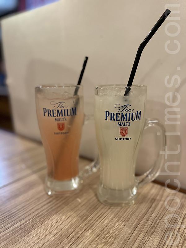 白桃梳打和乳酸飲品。(Siu Shan 提供)