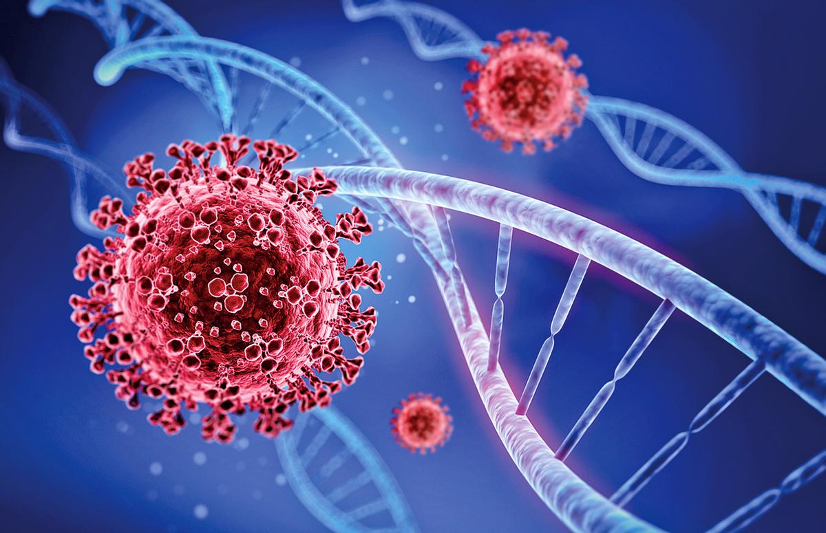 中共病毒(新冠病毒)的變異現象之詭異在改寫歷史,它不但展現「科學性」,而且似乎具有對抗醫療的「靈性」。示意圖。(Shutterstock)