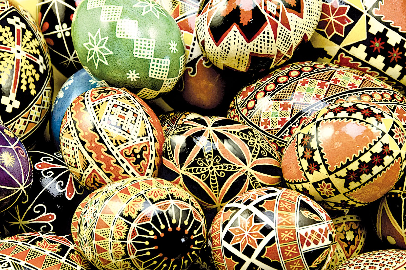 烏克蘭人裝飾的彩蛋細緻繁複,叫做Pysanky。