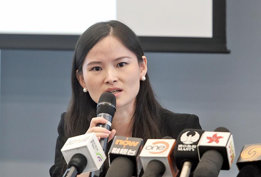 滙豐環球研究董事兼高級外匯策略師王菊表示,維持年底人民幣兌美元見6.9的看法。(余鋼/大紀元)
