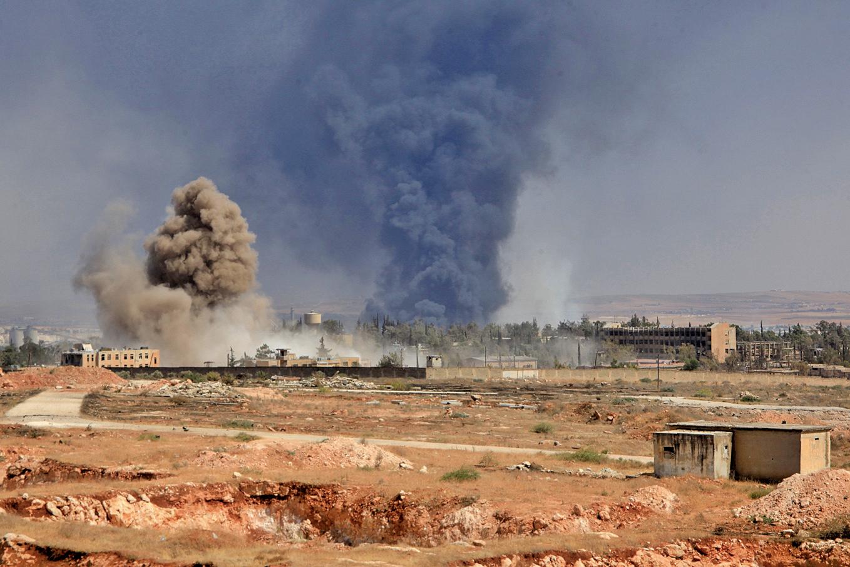 IS組織發言人、第二號頭目在敘利亞北部大城阿勒坡死亡。圖為阿勒坡的戰火。(AFP)