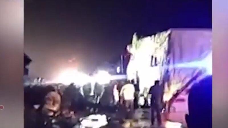 清明節大陸重大交通事故 貨車撞大客至少11亡