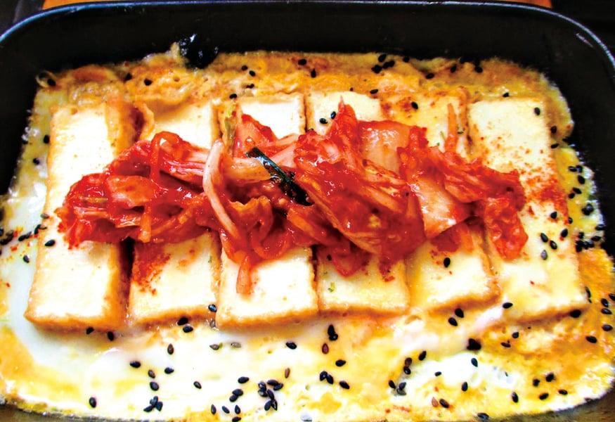 【家常料理】蛋豆腐排佐韓風泡菜