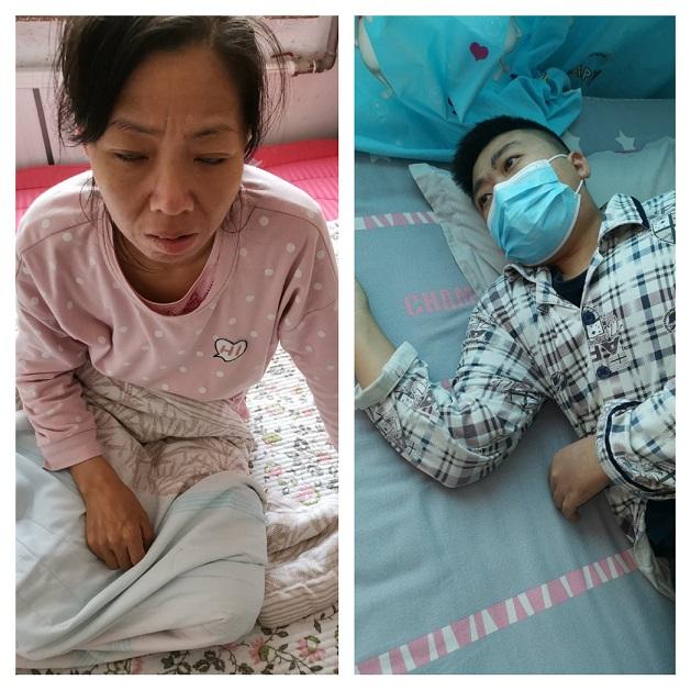 董艷華母子相機患腎衰竭,希望得到全社會的關註,讓迫害他們的人放過他們!(董艷華微博圖片)