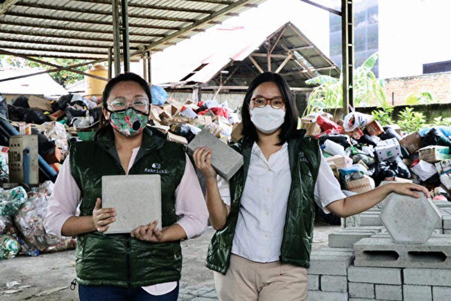 塑料垃圾變建材 印尼生產環保磚