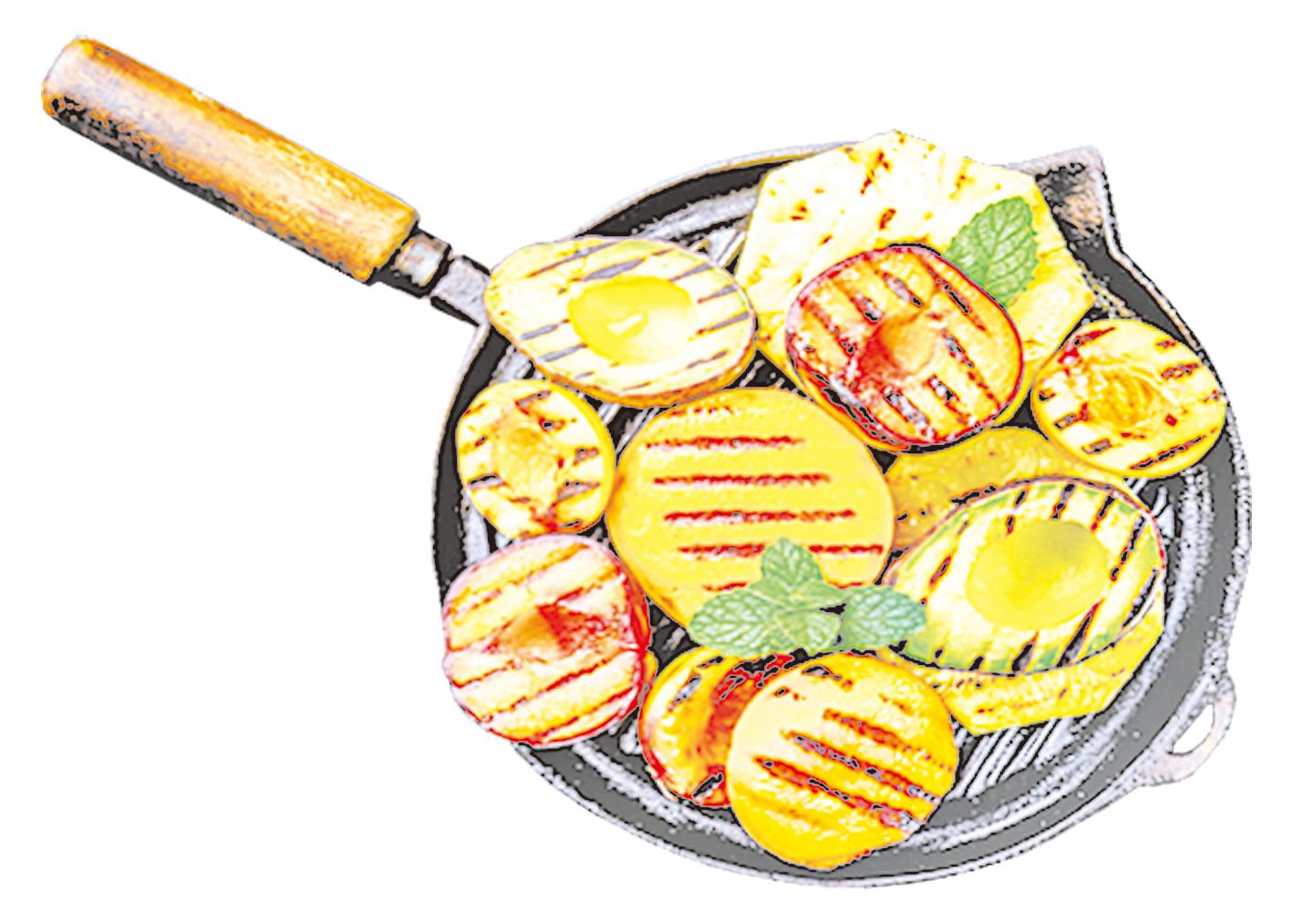 菠蘿、桃子、牛油果和李子都可以碳烤。