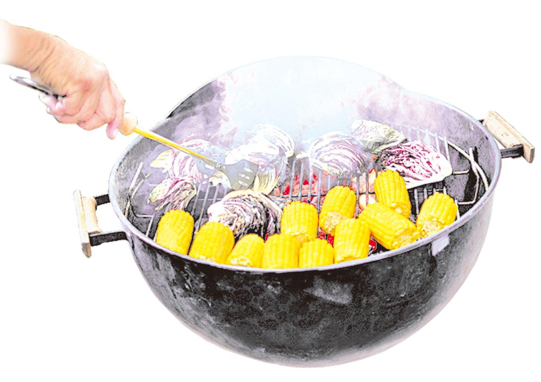 經過碳烤的紫生菜口感會變得絲滑柔順。