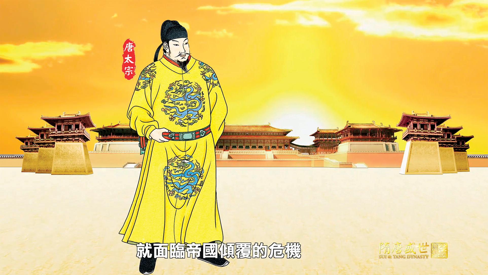 武德九年(626年)八月九日,秦王李世民在顯德殿登基,歷史上最輝煌的貞觀盛世拉開了帷幕。(圖/新唐人電視台)