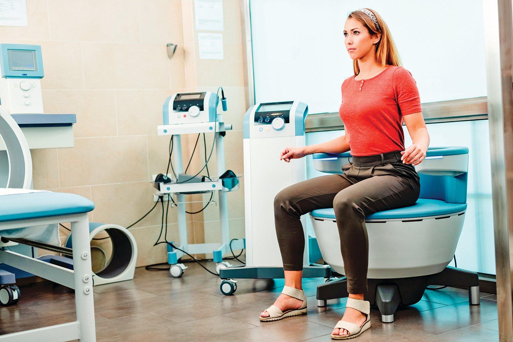 磁波椅治療。