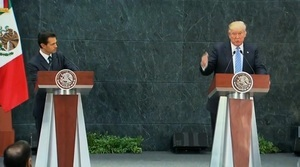 結束墨國行 特朗普:沒談誰來負擔築牆費