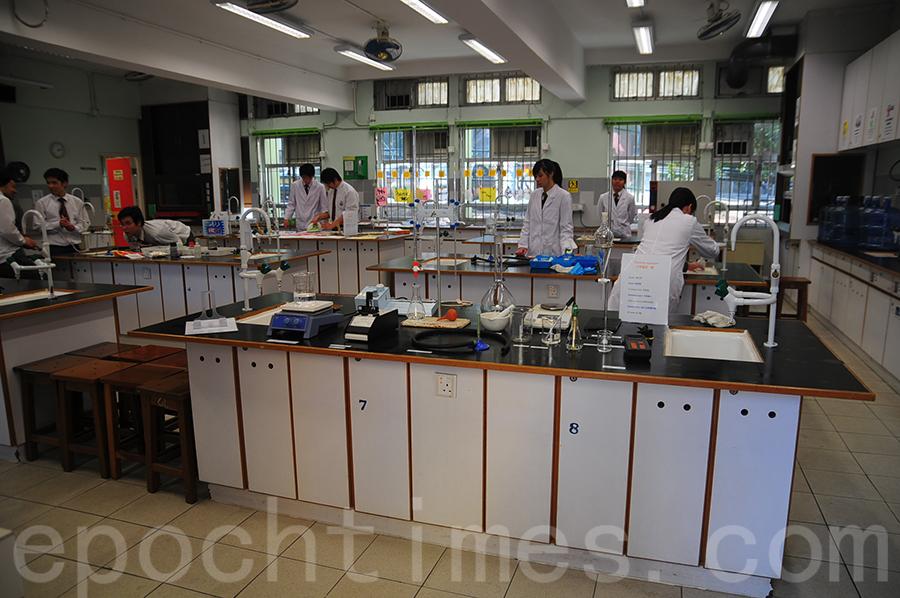 學校實驗室。(鄺嘉仕提供)
