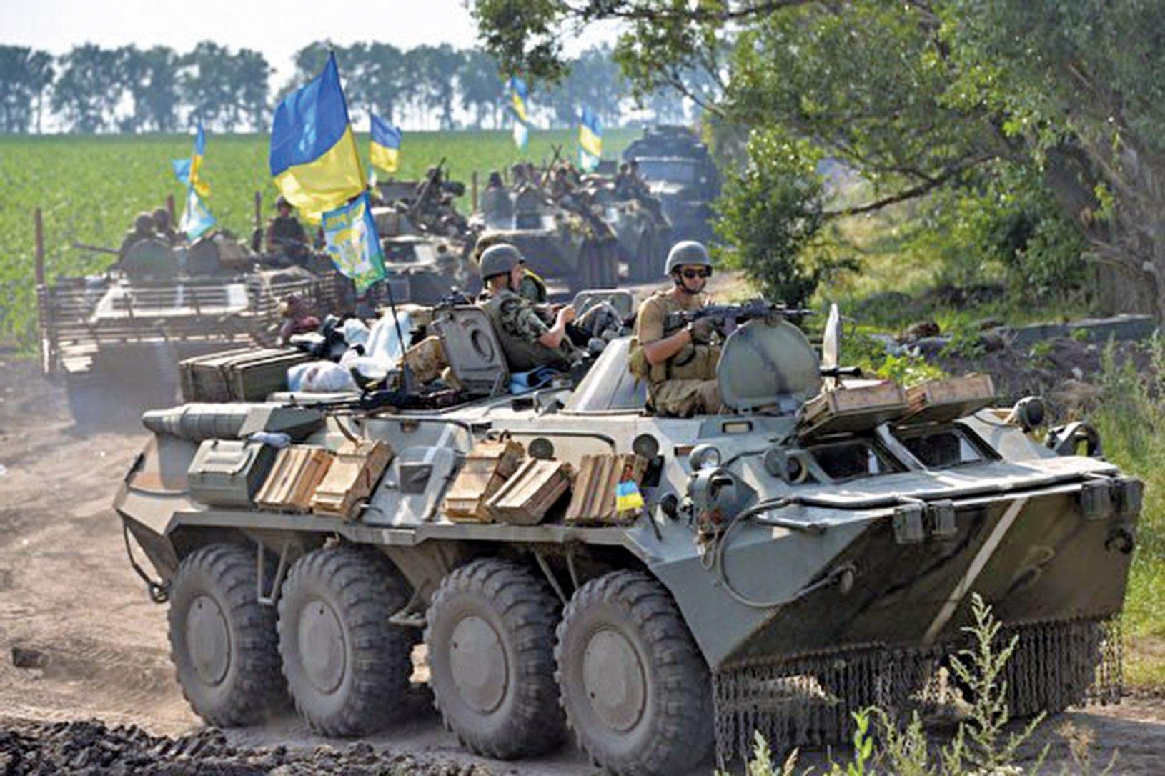 烏克蘭東部烏俄邊境或爆發戰爭;俄羅斯調動上萬軍隊至邊界地區。圖為烏克蘭軍隊。(AFP)