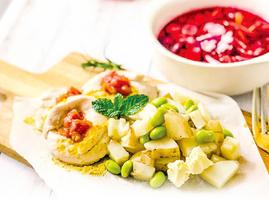 乳酪雞肉卷&甜菜根蔬菜湯