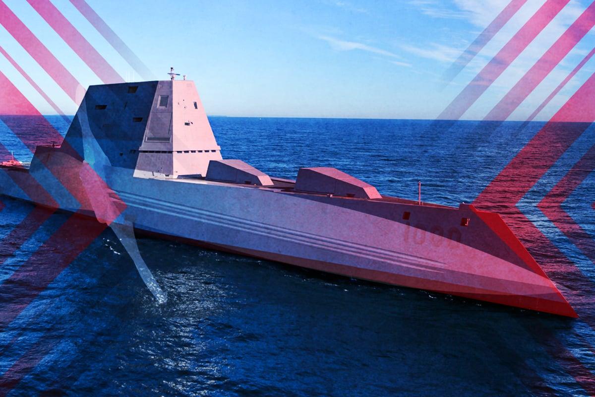 一小時內攻擊世界任何目標。祖姆沃爾特級驅逐艦將配備高超音速武器,對中共構成新的常規威懾。(大紀元製圖)