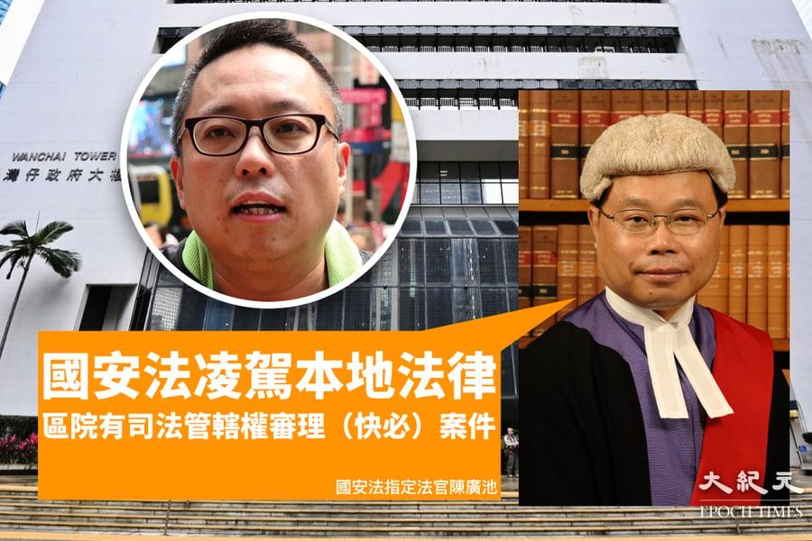 「快必」案官裁區院有權審理  法官:國安法凌駕本港法律