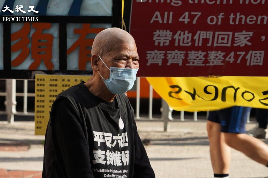 古思堯聲援社民連街站 鼓勵港人:不妥協繼續抗爭