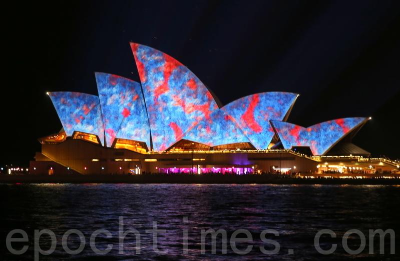 近期,引起澳洲華人憤怒的、紀念前中共黨魁毛澤東的紅歌會,在一片反對聲中,周四證實在悉尼、墨爾本兩地演出已被取消。圖為悉尼地標悉尼歌劇院。(何蔚/大紀元)