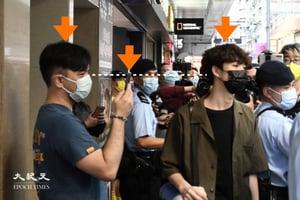 【組圖】賢學思政召集人王逸戰旺角呼籲寫生日卡  被疑似便衣影相