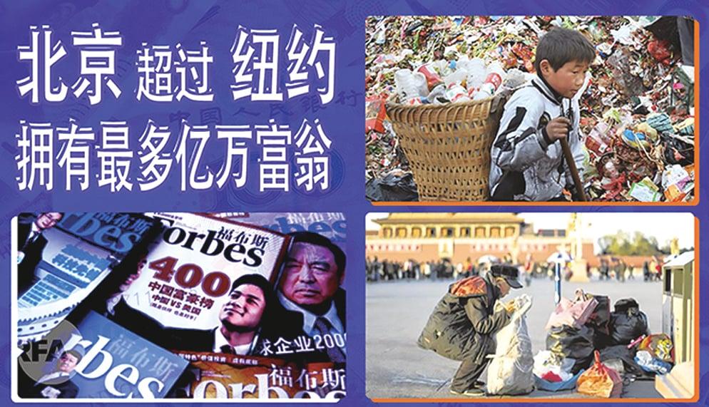 六億人月入僅千元  中國富豪疫情期間卻暴增