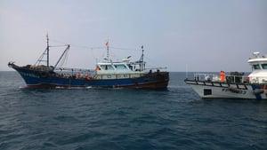 大陸漁船越界至彭佳嶼海域捕撈 遭台灣扣留